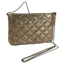 Whiting and Davis Quilted Mesh Crossbody - Antique Gold Photo