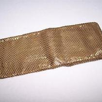 Whiting and Davis Vintage Gold Mesh Bifold Wallet Photo
