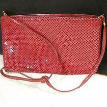 Whiting and Davis Vintage Red/maroon Evening Purse Sparkles Photo