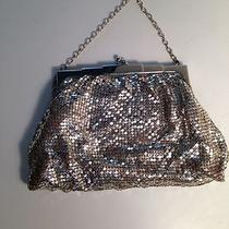 Whiting and Davis Vintage Silver Dress Purse Stamped 2789 With Mirror B747 Photo
