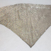 Whiting and Davis Vintagesilvertoned  Mesh Bib Necklace Scarf Photo