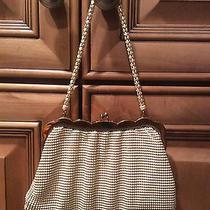 Whiting and Davis - White Mesh Evening Bag/matching Handle 1930/1946 Photo