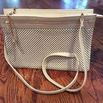 Whiting & David Convertible Shoulder Bag Clutch Two Compartments Zip Top Purse  Photo