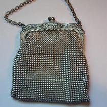 Whiting David Silver Purse Clutch Bag Evening Photo