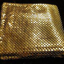 Whiting Davis 1950s Gold Mesh Folding Wallet Money and Coin Cards Area  Photo