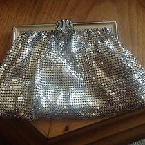 Whiting & Davis Antique Vintage Art Deco Silver Lined Mesh Clutch Photo