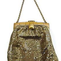 Whiting & Davis Art Deco Clasp Gold Mesh Evening Bag Purse  Photo