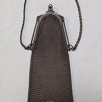Whiting & Davis Bags Sterling Silver Mesh Chain Purse With Flower Motif  Photo