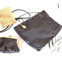 Whiting & Davis Black Mesh Bag With Change Purse & Little Gold Card Case Photo