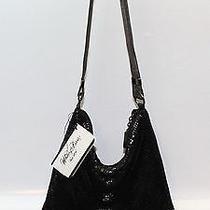 Whiting & Davis Black Mesh Purse Handbag Hobo Nwt Shoulder Bag Sleek Photo