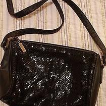 Whiting & Davis Black Mesh Shoulder Bag Purse L10