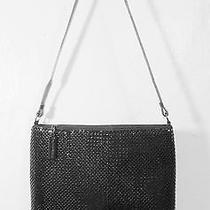 Whiting & Davis Black Mesh Shoulder Evening Bag Handbag Purse Photo