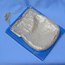 Whiting & Davis Co. Elegant Formal Silver Mesh Purse Evening Bag 6546 Photo