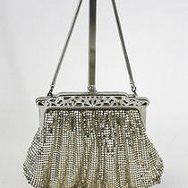 Whiting & Davis Co Vintage Silver Mesh Evening Bag Purse Handbag  Photo