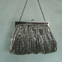 Whiting & Davis Co. Vintage Silver Mesh Evening Bag - Purse Made in u.s.a.  Vg  Photo