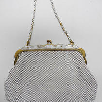 Whiting & Davis Co. White Bubble Mesh Purse Evening Bag W/ Mother of Pearl Trim Photo