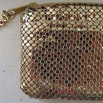 Whiting Davis Coin Purse Bling Gold Mesh Photo