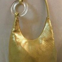 Whiting & Davis Goldhobo Handbag With Lucite ring325.00 Photo