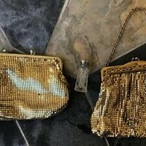 Whiting & Davis Gold Mesh Bag Clutch and Perfume Bottle Photo