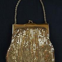Whiting & Davis Gold Mesh Evening Bag High End Vintage Purse W Tag D241 Photo