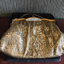 Whiting & Davis Gold Mesh Purse Mother of Pearlold Photo