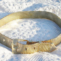 Whiting & Davis Gold Metal Mesh Belt in Beautiful Condition With Original Box Photo