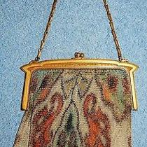 Whiting & Davis Golden Floral Designed Mesh Purse Lot 22 Photo