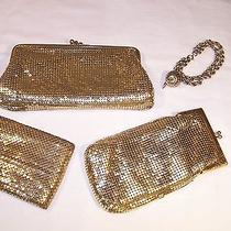 Whiting & Davis Goldtone Mesh Clutchcigarette Holderbillfold and Bracelet Photo