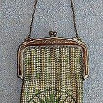 Whiting & Davis - Green & White Mesh Purse - Marked Tag Lot 25 Photo