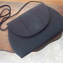 Whiting & Davis International Black Cloth Clutch Purse Handbag Shoulder Bag Photo
