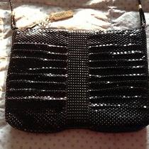 Whiting & Davis International Marked Black Mesh Evening Bag Purse Euc Photo