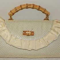 Whiting & Davis Ivory Metal Mesh Bamboo Top Handle Kelly Bag Unique Nwt Cute Photo