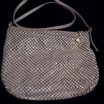 Whiting Davis  Mesh Purse With Handle White Zipper Top With Signature Pull Photo
