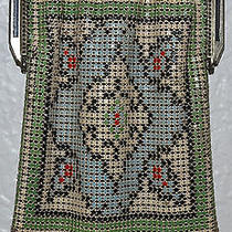 Whiting & Davis Metal Mesh & Enamel Art Deco Flapper Purse Photo
