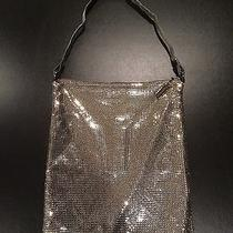 Whiting & Davis Metal Mesh Purse Bag Shoulder Pocketbook and Silver Tone Photo