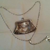 Whiting & Davis Metal Mesh Purse Cross Embellishment W/sterling Silver Rosary Photo