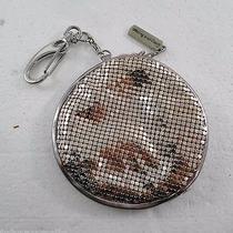 Whiting & Davis Pink Mesh Round Coin Change Purse Key Ring Photo