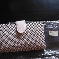 Whiting Davis Powder Pink Metal Mesh Wallet Card Holder  Photo
