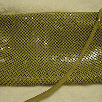 Whiting Davis Purse Cream Mesh Clutch Cross Body-Detachable Straps.....nice Photo