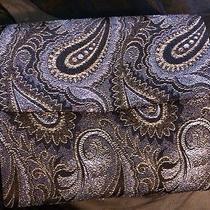 Whiting Davis Purse Evening Bag Rare Cloth Vtg Gray Paisley Shimmer Photo