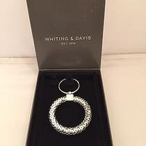 Whiting & Davis Silver Circle Key Ring in Gift Box Photo