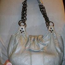 Whiting & Davis Silver Matt Mesh Palm Springs Mesh Shoppershoulder Bag  Ec Photo