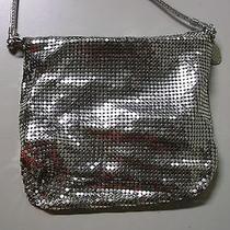 Whiting & Davis Silver Mesh Bag Vintage Purse Photo