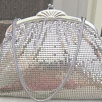 Whiting & Davis - Silver Mesh Clutch Purse Vintage Made in Usa Evening Wedding Photo