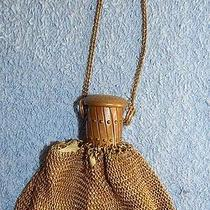 Whiting & Davis - Small Expandable Gate Opening - Gold Tone Purse - Ch... Lot 58 Photo