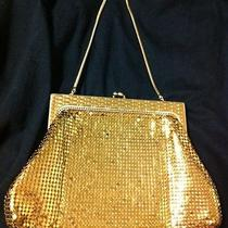 Whiting & Davis Small Gold Mesh Bag Purse Lined Marked W Maker's Name Usa Photo