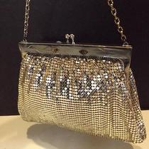 Whiting & Davis Vintage Antique Silver Metal Mesh Evening Purse Handbag And Photo