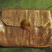 Whiting & Davis Vintage  Gold Mesh  Clutch Purse  Photo