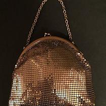 Whiting & Davis Vintage Gold Tone Mesh Wrist Evening Purse Bag Euc Photo