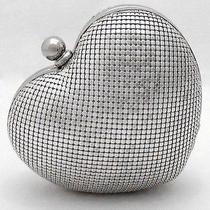 Whiting & Davis Vintage-Inspired Silver Heart Minaudiere Handbag Purse 150 Photo